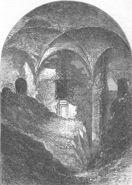 Associate Product ITALY. Chamber, Baths of Novatus, antique print, 1865