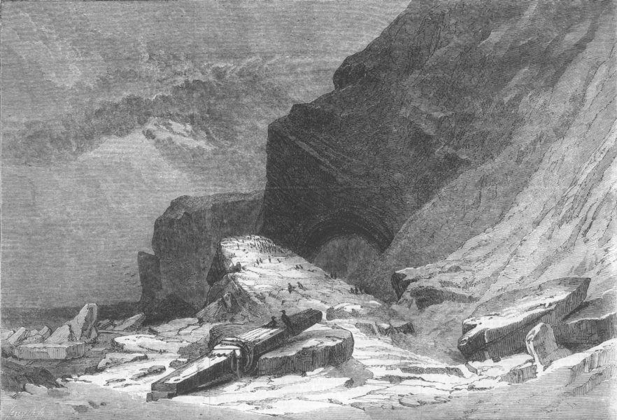 Associate Product GERMANY. Western Coast of Heligoland Island, antique print, 1862