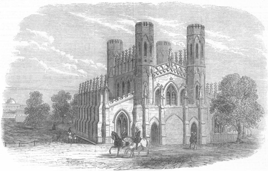Associate Product INDIA. Garrison Church, Fort William, Kolkata, antique print, 1866
