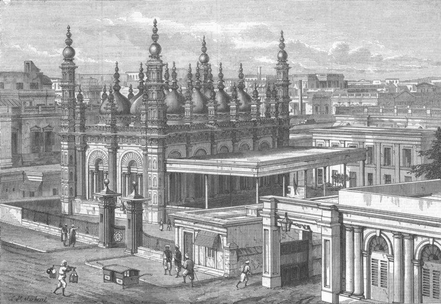 Associate Product INDIA. Mosque of Gholaum Mahomed, Kolkata, antique print, 1866