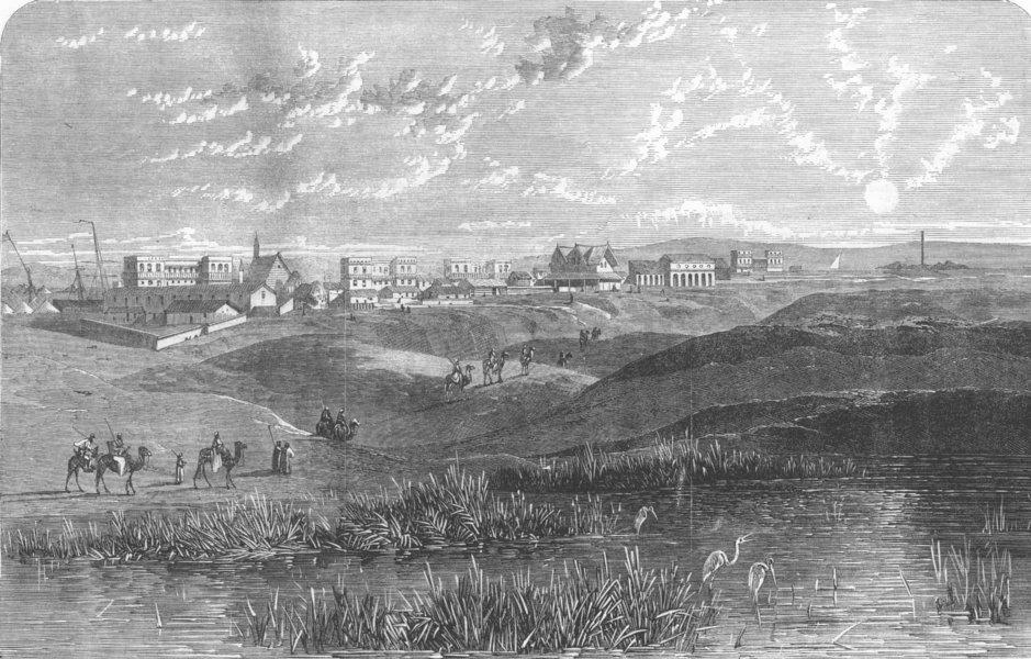 Associate Product EGYPT. Ismaila, Suez Canal, antique print, 1866