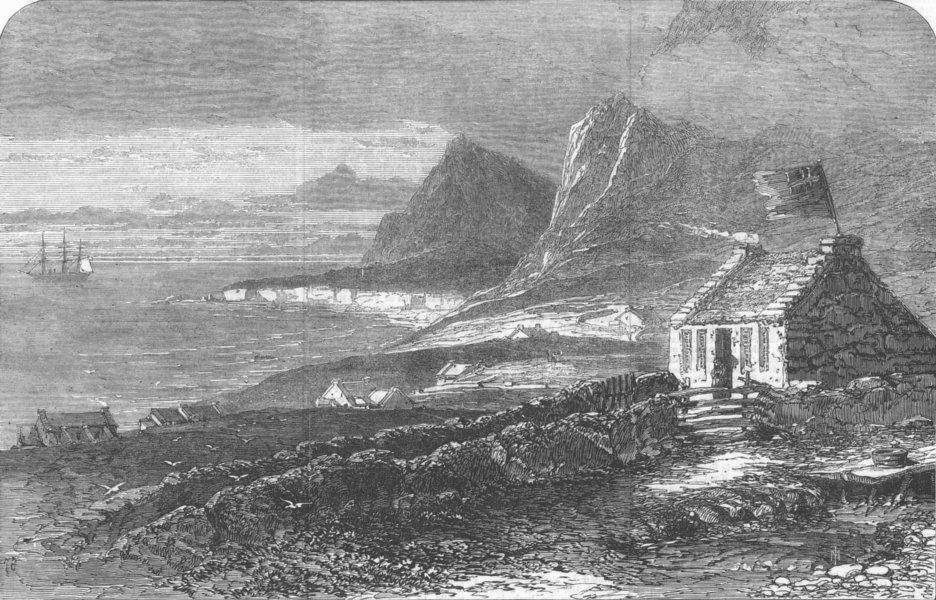 Associate Product Tristan D'Acunha. South Atlantic, antique print, 1867