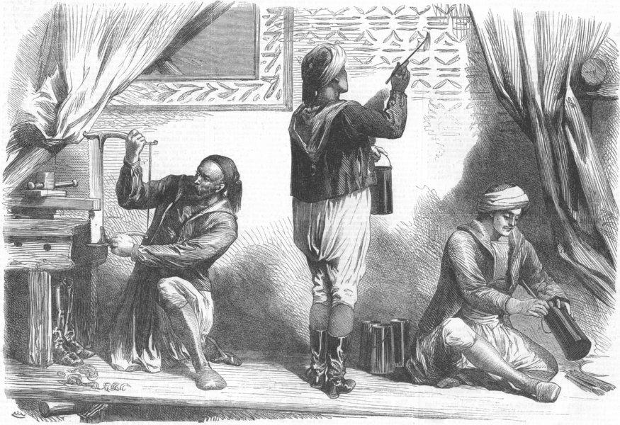 Associate Product FRANCE. Paris Expo. Arab Workmen, Tunisian section, antique print, 1867