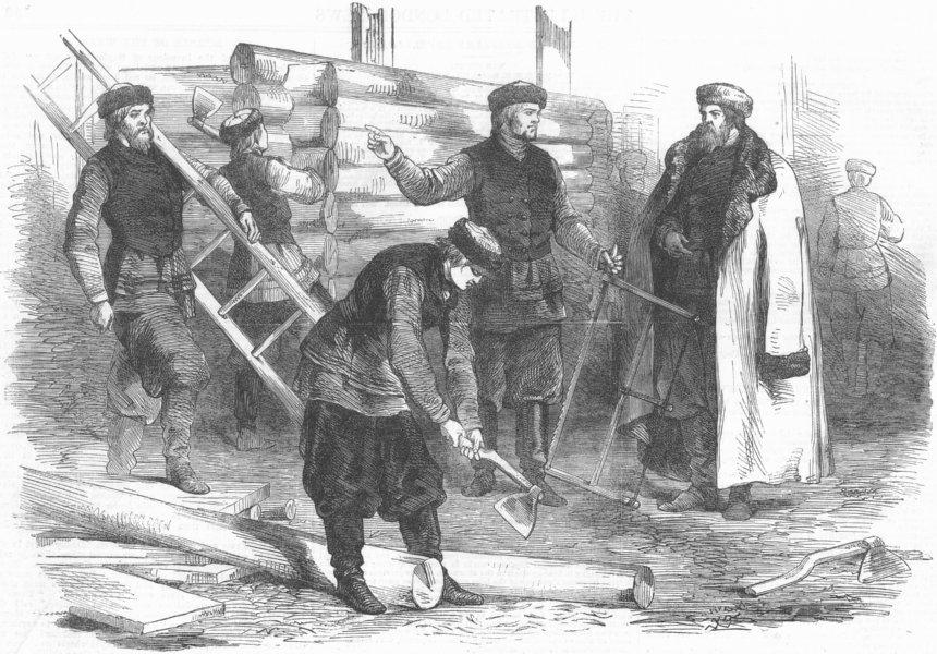 Associate Product FRANCE. Paris Exhibition. Russian Village, antique print, 1867