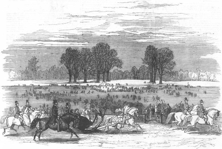 Associate Product LONDON. Royal Sledge-Drive, Hyde-Park, antique print, 1855