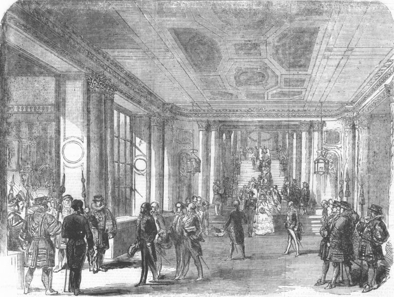 Associate Product LONDON. French Emperor, Buckingham Palace, antique print, 1855