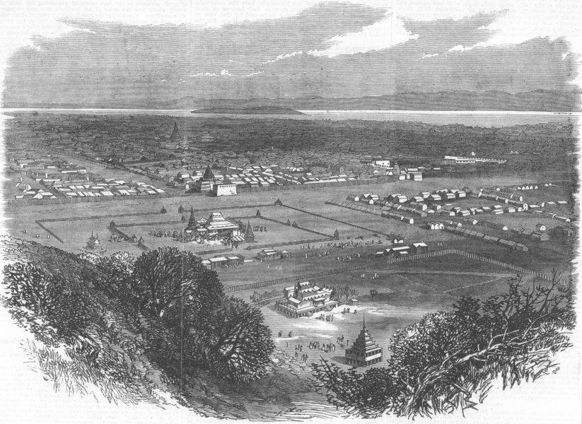 Associate Product BURMA. Mandalay, Capital of Upper Burma, antique print, 1867