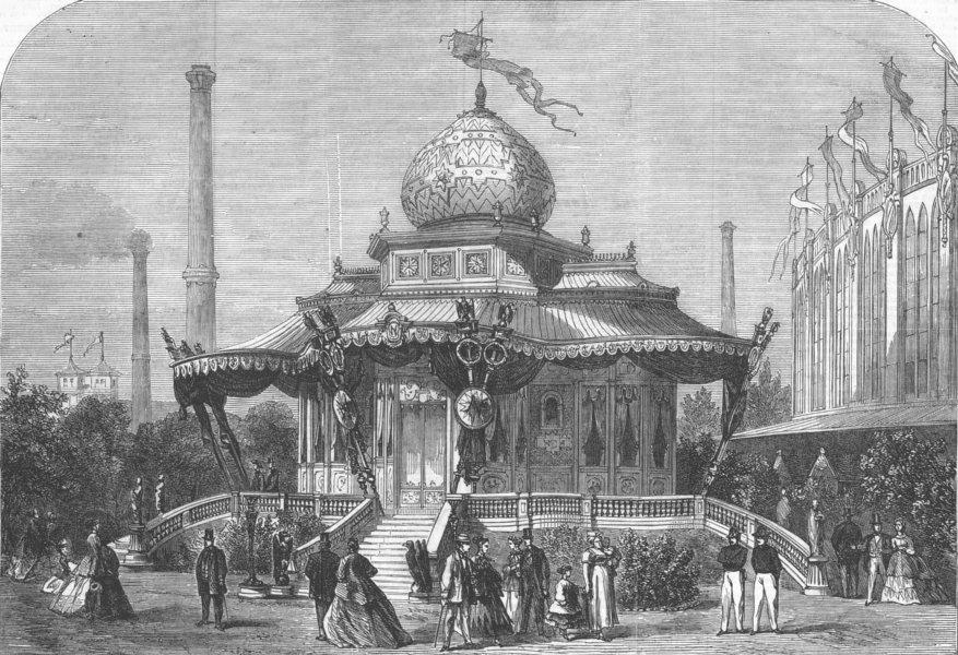 Associate Product FRANCE. Paris Expo. Pavilion of Emperor, antique print, 1867