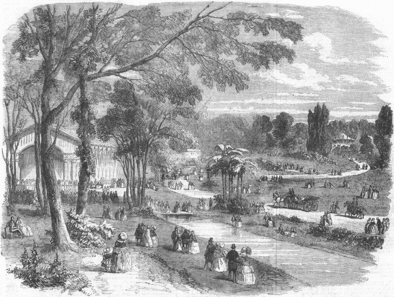 Associate Product FRANCE. Pre Catalan, Bois De Boulogne, Paris, antique print, 1856