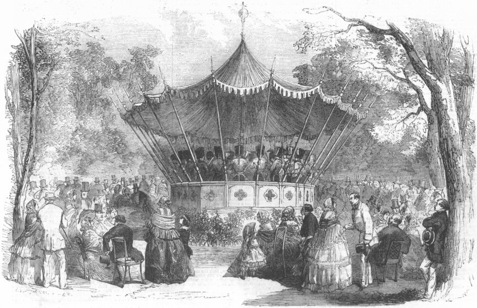 Associate Product FRANCE. Pre Catalan-Orchestra, antique print, 1856