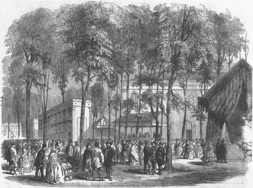 Associate Product FRANCE. Paris Poultry Show, Champs Elysees, antique print, 1856