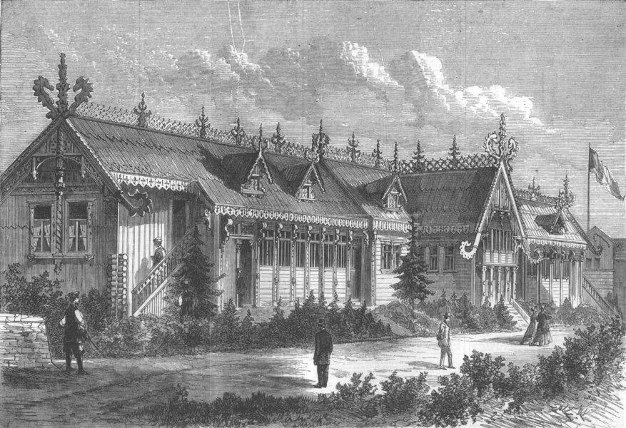 Associate Product FRANCE. Paris Expo. Russian Stables, antique print, 1867
