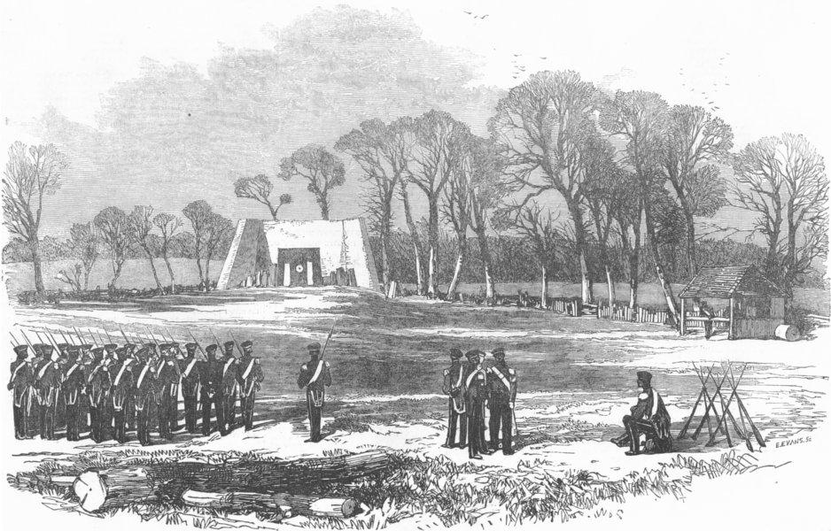 Associate Product LONDON. Victoria Rifle-Ground, Kilburn, antique print, 1855