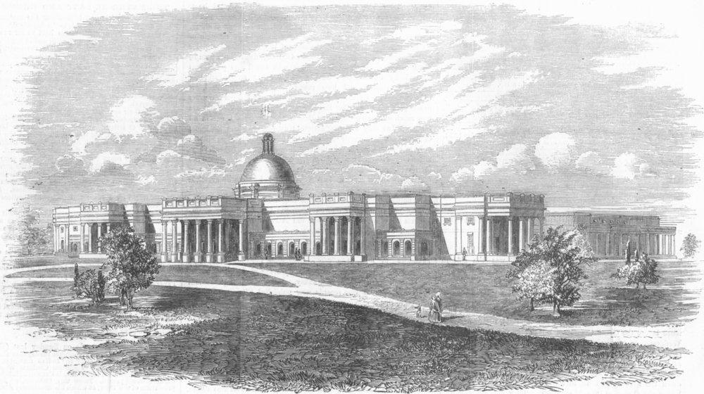 Associate Product INDIA. Thomason Civil Engineering College, Agra, antique print, 1857