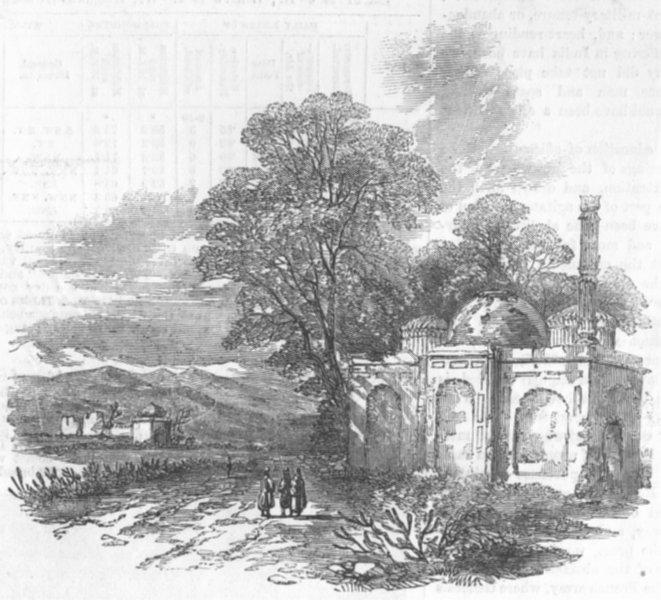 Associate Product INDIA. Sketch, Foot of Hills, Shapore, Punjab, antique print, 1857