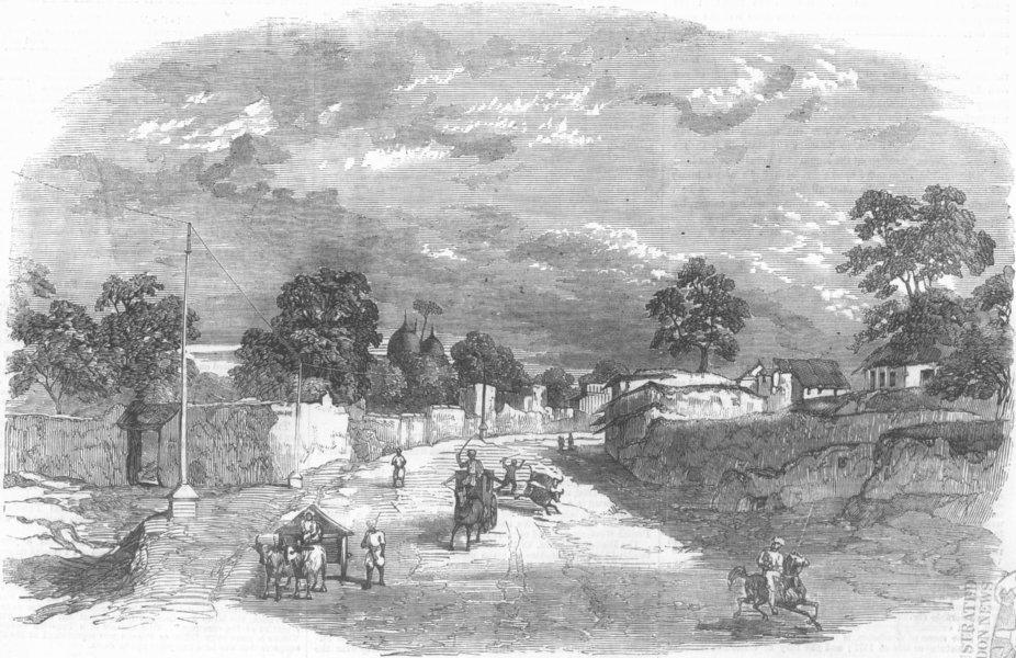 Associate Product INDIA. Mutiny, Fatehpur, Gen Havelock & Nena Sahib, antique print, 1857