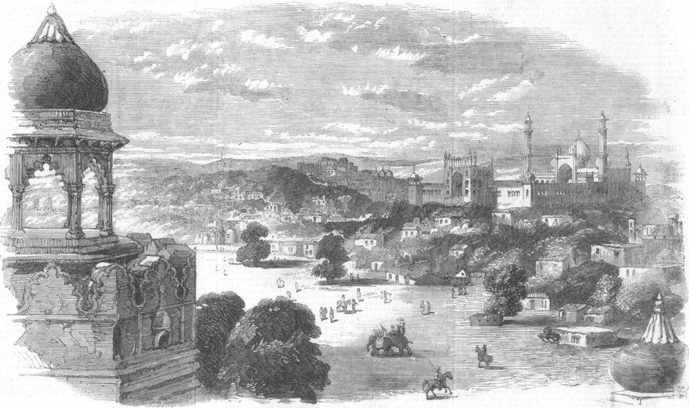 Associate Product INDIA. City of Delhi, antique print, 1857