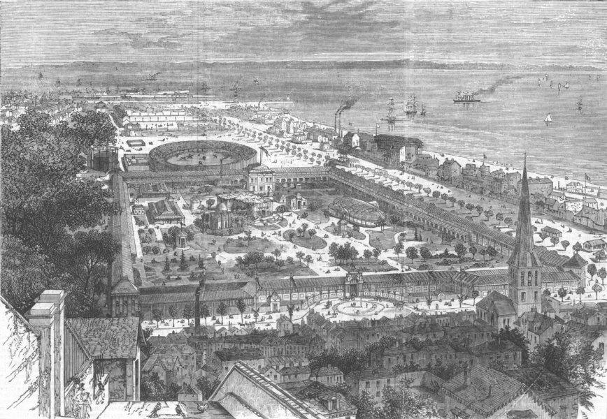 Associate Product FRANCE. International Maritime Exhibition, Le Havre, antique print, 1868