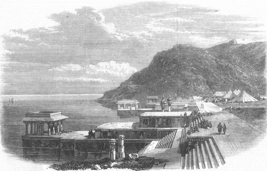 Associate Product INDIA. Lake of Kankrowlee, Mewar, Upper India, antique print, 1868