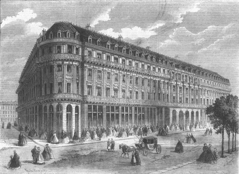 Associate Product FRANCE. Hotel de La Paix, Paris, antique print, 1862