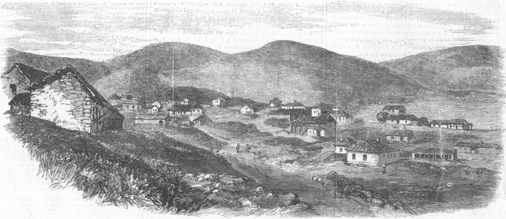 Associate Product UKRAINE. View of Karani, antique print, 1857