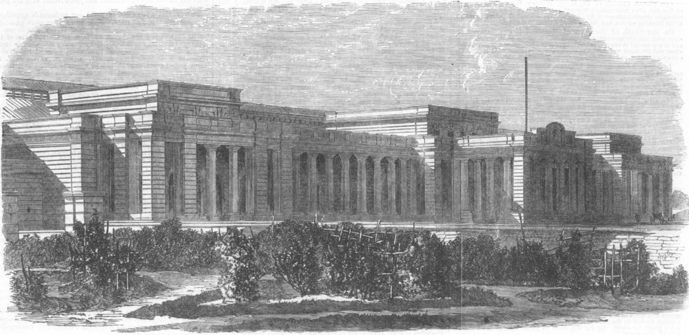 Associate Product INDIA. Railway Station, Kanpur, antique print, 1867