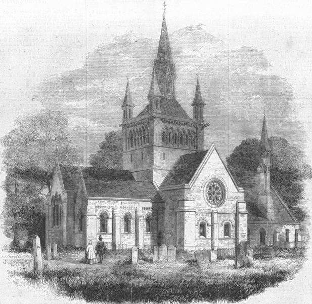 Associate Product ISLE OF WIGHT. Whippingham Church, near Osborne, antique print, 1862