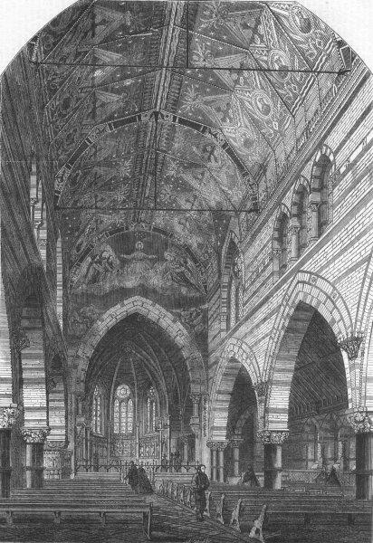 Associate Product LONDON. Church of St James Less, Upper Garden St, antique print, 1862