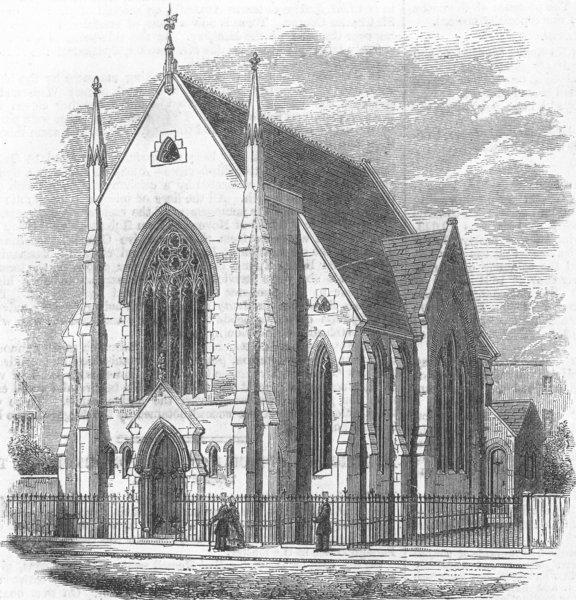 Associate Product LONDON. Church, Halton-Street, Lower-Road, Islington, antique print, 1862
