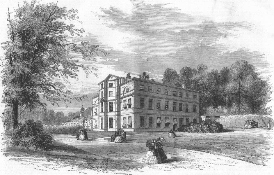 Associate Product SURREY. Moor Park, Surrey, antique print, 1858