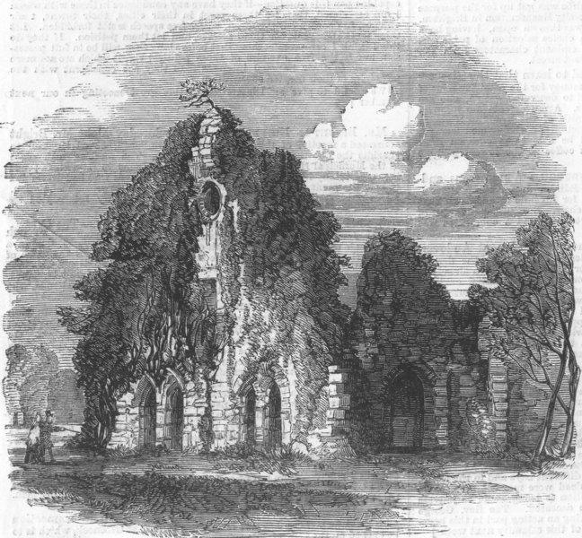 Associate Product SURREY. Waverley Abbey, Surrey, antique print, 1858