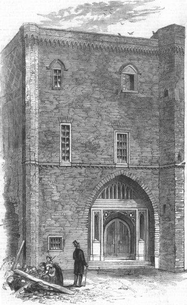 Associate Product LONDON. King John's Palace at Stepney, antique print, 1858