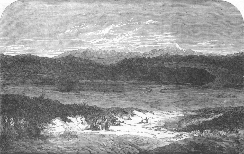 Associate Product GREECE. The Mountains of Thermopylae, antique print, 1853