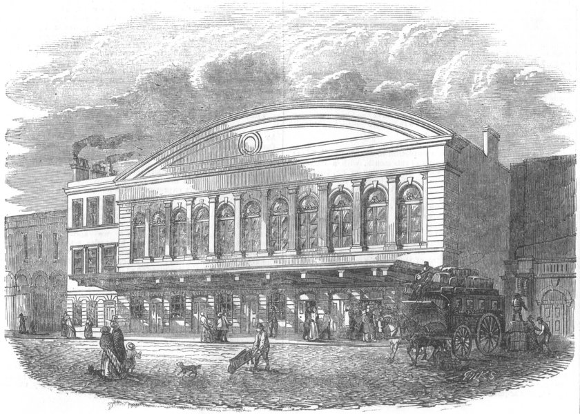 Associate Product LONDON. Blackwall Station at Fenchurch St, antique print, 1853