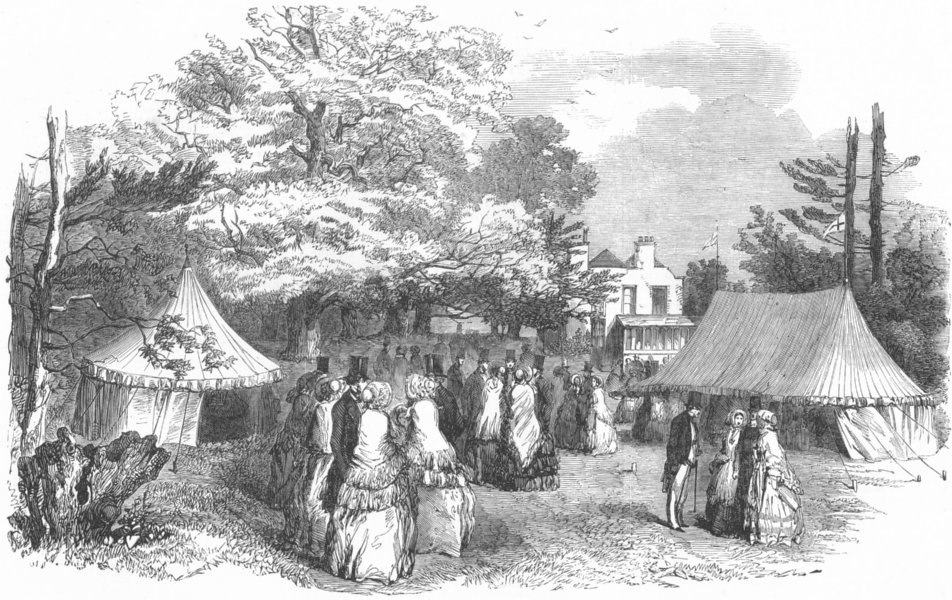 Associate Product LONDON. Charity sale at Harlesden House, antique print, 1853