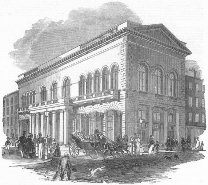 Associate Product LONDON. St James's Bazaar-Exhibition, antique print, 1844