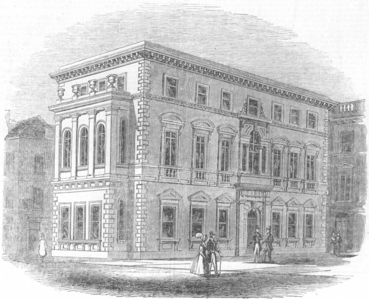 Associate Product LONDON. The Gresham clubhouse, antique print, 1844