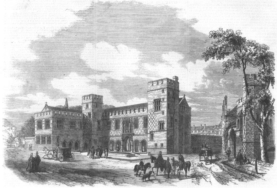 Associate Product BERKS. New school buildings at Eton College, antique print, 1862