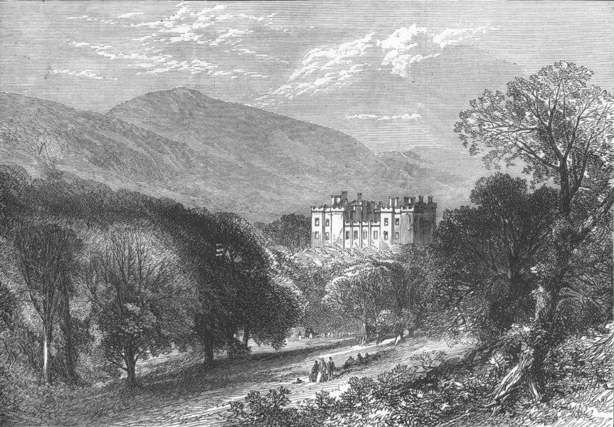 Associate Product NORTHUMBS. Chillingham Castle, antique print, 1872