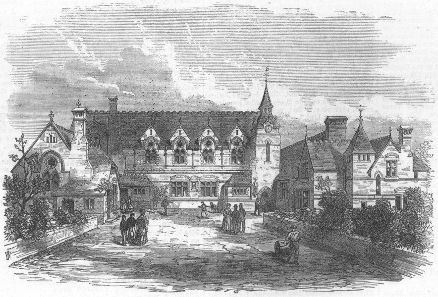 Associate Product LONDON. St Mary Magdalen National School, Bermondsey, antique print, 1872