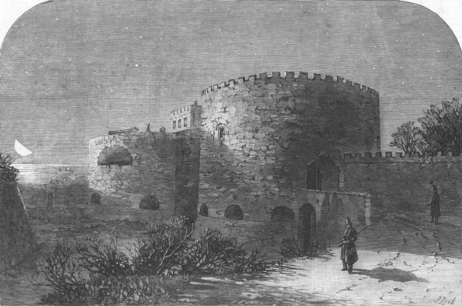 Associate Product KENT. The midnight watch at Walmer Castle, antique print, 1852