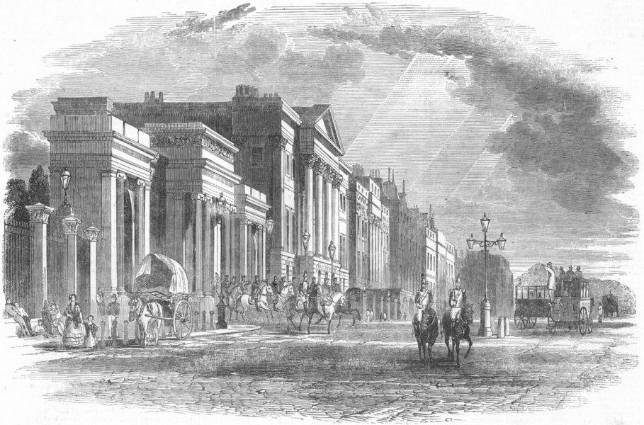 Associate Product LONDON. Apsley House, Hyde Park Corner, antique print, 1852