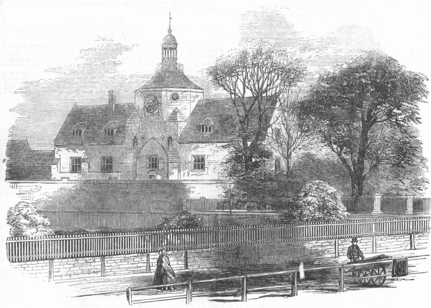 Associate Product NORFOLK. The Union Workhouse, at King's Lynn, antique print, 1854