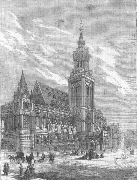 Associate Product LONDON. Royal Academy architecture prize design, antique print, 1862