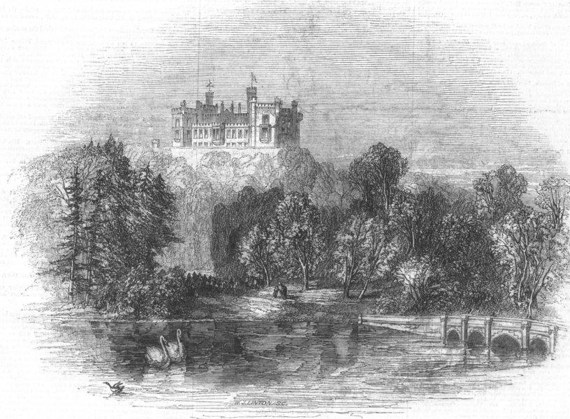 Associate Product LEICS. Belvoir Castle, antique print, 1843