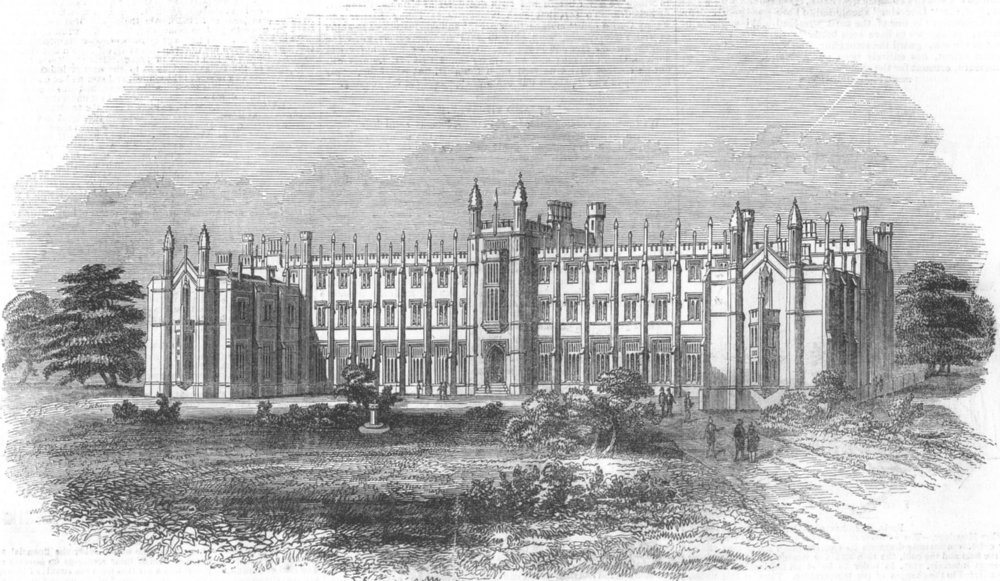 Associate Product LONDON. Wesleyan Theological Institution, Richmond, antique print, 1843