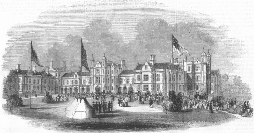 Associate Product LONDON. Orphanage at Wanstead, antique print, 1843