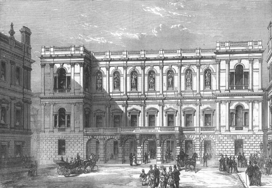 Associate Product LONDON. The Royal Academy of Arts, Burlington House, antique print, 1874