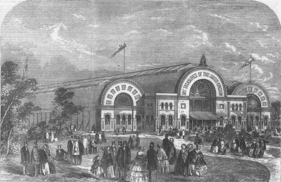 Associate Product LANCS. Proposed art exhibition building, Manchester, antique print, 1856