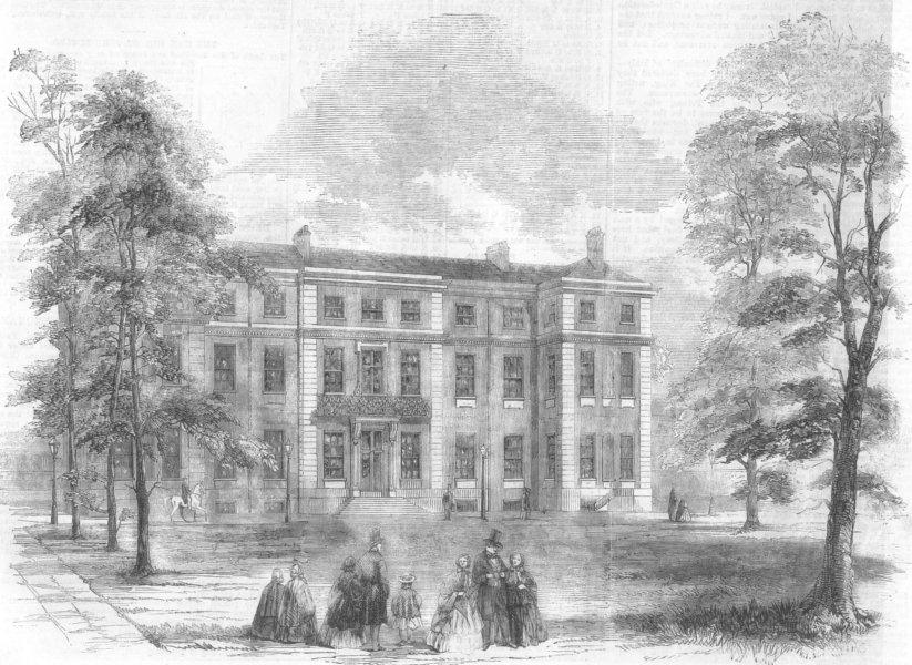 Associate Product LONDON. Marlborough House, Prince of Wales townhouse, antique print, 1859